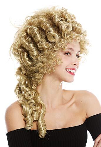 Wig me up ® - 91029-za89 parrucca donna carnevale storica barocco nobiltà biondo maria antonietta pompadour acconciatura cotonata beehive 50 cm
