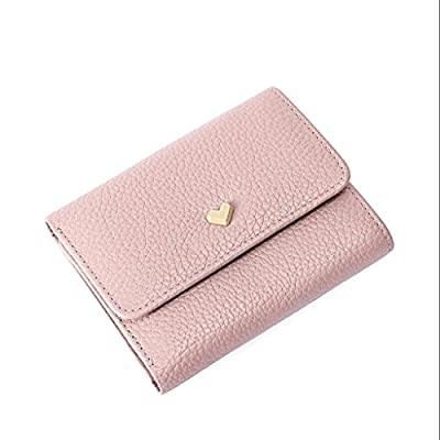 ZLR Mme portefeuille New Lady Wallet Short Paragraph Cute Cute Little Clear New Three Fold Wallet