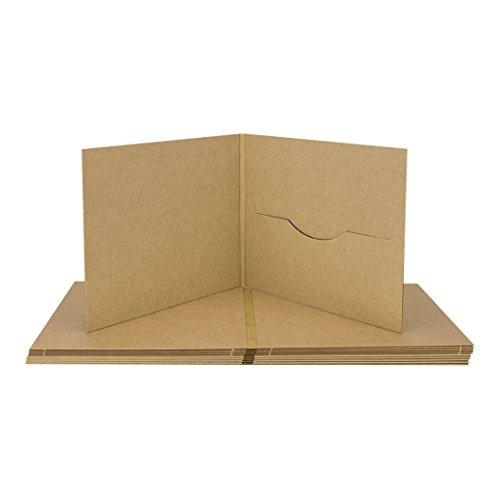 Preisvergleich Produktbild CD Digifile, Hülle m. 1 Schlitz, Kraftpapier 283 g/m², braun - 10er Pack
