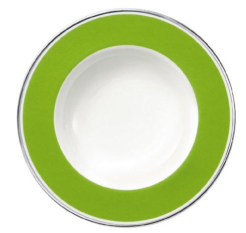 24cm Suppenteller 'Anmut My Colour' aus Premium Bone Porzellan Farbe: Forest Green