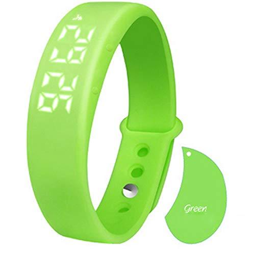 Styledress Fitness Smartwatch,W5 Schrittzähler-Schlafmonitor Temperatur Armband Fitness Armband, Armbanduhr Uhren Uhr Smart Watch Fitness Uhr für Herren Damen (Grün)