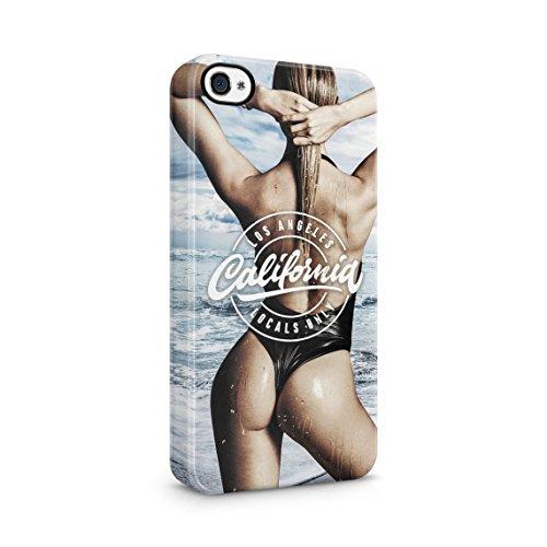 Relax Hot Model Girl On The Beach High Life Sommer Tropical Paradise Dünne Rückschale aus Hartplastik für iPhone 6 & iPhone 6s Handy Hülle Schutzhülle Slim Fit Case cover California Babe