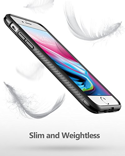Poetic Karbon Shield Slim Fit custodia bumper in TPU con struttura in fibra di carbonio per iPhone 7nero