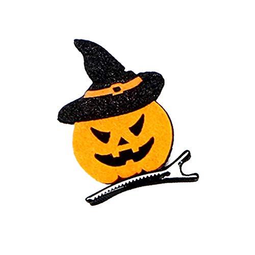 -Halloween-Kürbis-Haar-Klipp-Kind-Kostüm Kopfbedeckung Geist BobbyPin DIY-Feiertags-Party Supplies ()