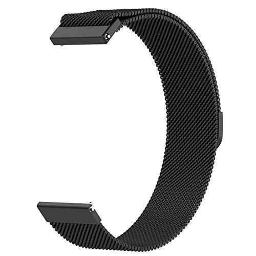 LOKEKE, Cinturino di Ricambio per Ticwatch Mobvoi E2, 22 mm, in Acciaio...