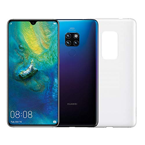 "Huawei Mate 20 (Twilight) plus originele cover, telefoon met 128 GB, 6.53 Display ""Full HD +, Dynamic Octa Core-processor met kunstmatige intelligentie"