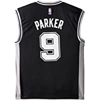 Tony Parker San Antonio Spurs Adidas NBA Revolution Replica Jersey Maglia - Black