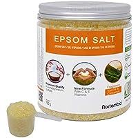 Nortembio Sal de Epsom 750 g. Novedosa Fragancia de Vainilla y Canela. Hidratada con Vitamina C y E. Sales de Baño y Cuidado Personal.