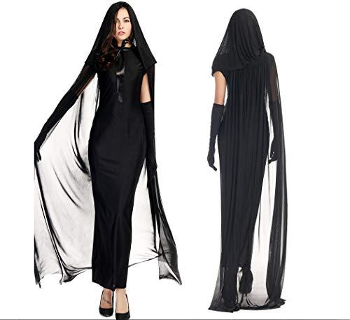 Duuozy Ms. Black Geister Geister Nacht Geister Halloween Party Queens Hexen Mädchen Mädchen Erwachsene Bühne Kleidung,Big,M