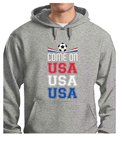22189a94f Come On USA Soccer Ball Flag Soccer Fans American Team Mens Hoodie