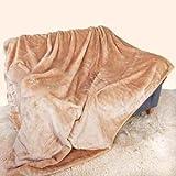 Biscuit Überwurf Luxus weicher Nerz Plüsch groß (150cm x 200cm; geeignet für Doppelbett oder 2-Sitzer-Sofa) Sofa Bettläufer Tagesdecke Decke von Qualität Bettwäsche und Handtücher