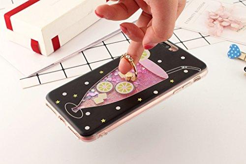 iPhone 6/6S Hülle - 3D Kreatives Design Luxus Shiny Flow Sand Entzückende Fließende Schwimmende Moving Shiny Glitzer Sequins Bling Cute Pattern Shell für iPhone 6/6S - Girl Boss 8-A