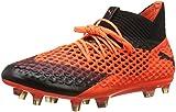 Puma Herren Future 2.1 Netfit FG/AG Fußballschuhe, Schwarz Black-Shocking Orange 02, 48.5 EU