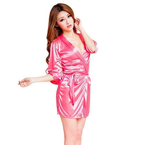 2018 Heiße Frauen Mode Klassischen Bademantel Reine Rollenspiele Reizvolles Dessous Wilde Versuchung Exotisches Kleid Sunday (Roserot, Einheitsgröße) (Dessous Klassische)