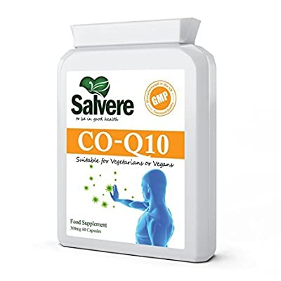 High Strength Coenzyme Q10 300mg (CoQ10) Support Cardiovascular Health & Immune System Booster, Potent Antioxidant to Promote Healthy Reproductive & Endocrine System, Vital in Energy Production & Healthy Gums, 100% Naturally Fermented Food Sources