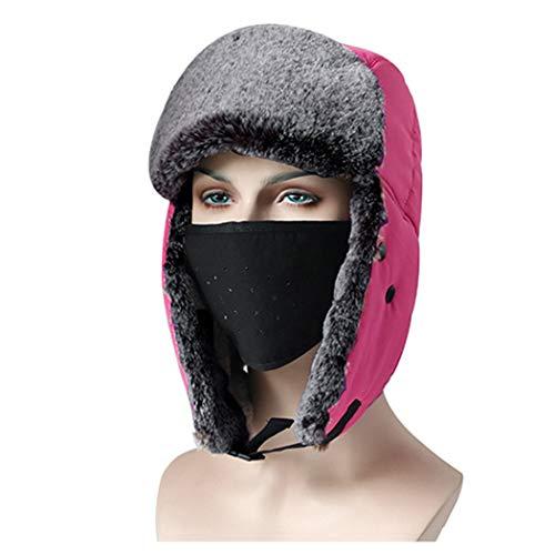 Hhrong Winter Hat Unisex Ohrmuschel Kavallerie Captive Captive Kappe, Warme Windsichere Ski-Reitkappe Outdoor-Aktivitäten,C,OneSize