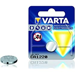 """VARTA Lot de 2 pile bouton lithium """"Electronics"""", CR1220, 3,0 Volt,"""