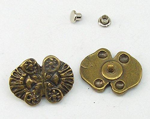 4 Zierniete Metall Applikatione Zierteil Trachten 05.43/291
