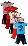 #6: MITWA ENTERPRISES Mitwa's Cotton Three-Fourth Pant with Matching Tees for Boys, Pack of 5, Multicoloured-Indigo