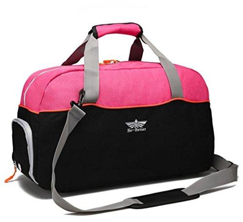 Mkangheting Oxford Men Travel Bag Large Capacity Multifunctional Hand Bag Waterproof Women Luggage Duffle Bag Business Travel Bags Rose