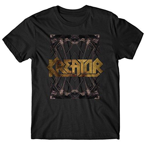 """T-shirt Uomo Kreator """"Spines"""" - Maglietta 100% cotone LaMAGLIERIA,L , Nero"""