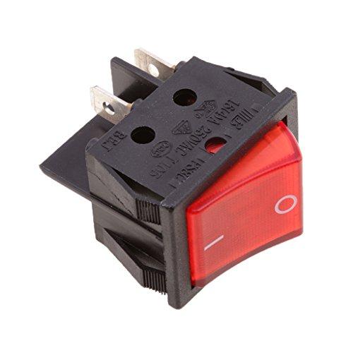 Baoblaze 4-Pin wasserdicht auf Aus-Schalter, Auto LED beleuchtete Wippschalter, Universal Toggle Switch - Schwarz und Rot -