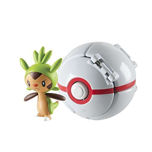 Pokèmon - Figura Throw N'Pop de Chespin & Premier Ball (Bizak 30698873)