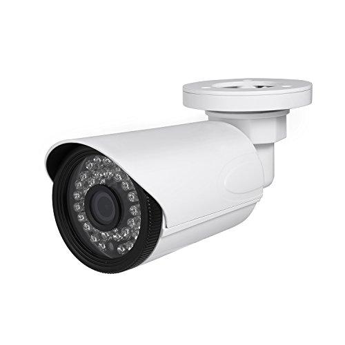 Revotech® - H.265 2MP Wasserdicht HD 1920 x 1080P 2.0MP Nachtvision Außen 36LED Kugel IP Kamera Sicherheit Kamera ONVIF P2P CCTV Kamera mit IR-Schnitt (I6038-16E weiß) Kugel-kamera 1080p