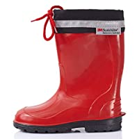 Lemigo Children´s Rubber Wellington Boots with Top Kim 972 (Red, EU = UK