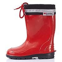 Lemigo Children´s Rubber Wellington Boots with Top Kim 972 (Red, EU = UK