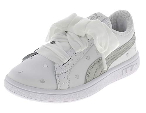 Puma 370783 02 Sneakers Bambina Bianco/Argento 34