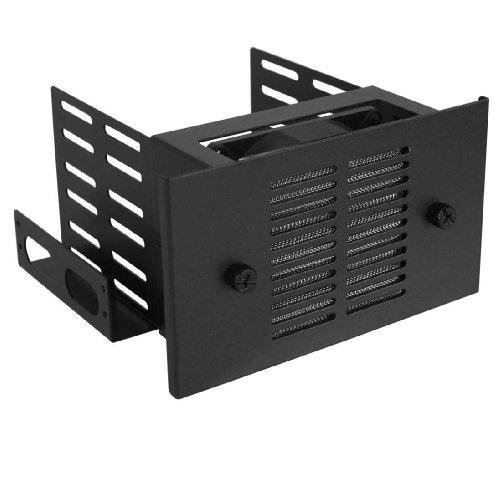 Preisvergleich Produktbild InLine 33343B HDD Adapter für 3x HDD / 2x 13, 3 cm (5, 2 Zoll) Slot mit 80mm Lüfter schwarz