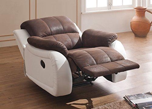 Mapo Möbel Microfaser-Relax-Sofa-Mikrofaser-Relaxsessel Fernseh-Sessel 5129-1-PU