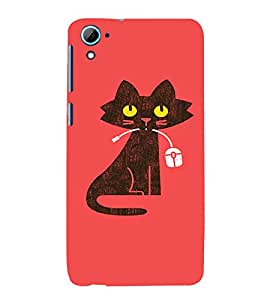 EPICCASE Cat With Mouse Mobile Back Case Cover For HTC Desire 826 (Designer Case)