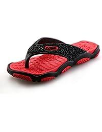 BAINASIQI Herren Zehentrenner Sommer Schuhe Outdoor Strand Latschen Freizeit Flip Flops Pantoletten Ultralight Rutschfest Slipper Badeschuhe