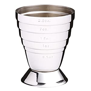 41 0pwBP%2BlL. SS300  - Barcraft Stainless Steel Jigger (spirit measuring cup)