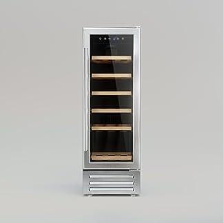 CAVIST-CXVIII-Weinkhlschrank-Einbau87-cmEinbaubarer-18-Flaschen6-Regale-aus-Holz