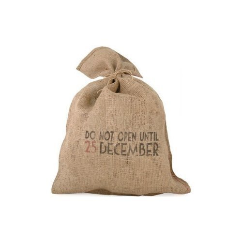 East of India - Sacco di Babbo Natale in canapa vintage, motivo: 'do not open until 25 December'