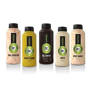 Nutriful Sauce Mix Box 0% Fett und Zucker (5x 265 ml) NEW Testpacket mit neuen Sorten!