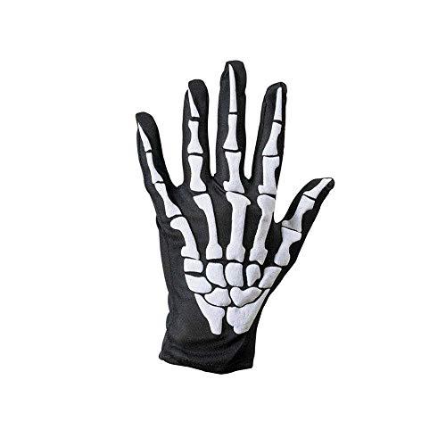 Qiusa Halloween Schädel Knochen Skeleton Goth Racing Vollfinger-Handschuhe (Farbe : ()