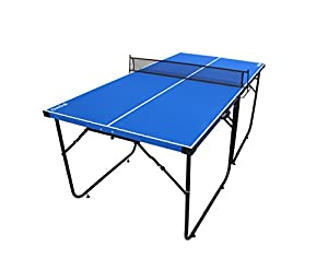 Table Tennis Table, IFOYO 6ft Midsize Ping Pong Table 4-Piece Folding Portable Indoor Outdoor Ping Pong Table for Adults, Kids, Blue Review 2018