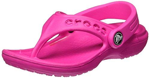 Crocs Baya Flip Kids, Unisex-Kinder Zehentrenner, Rosa (Neon Magenta 6L0), 22/24 EU