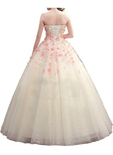 Promgirl House Damen Traumhaft Blumen Prinzessin Brautkleider ...
