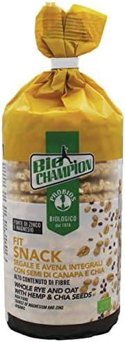 Probios Fit Snack Segale e Avena Integrale con Semi di Canapa e Chia Bio - Confezione da 12 x 100 g