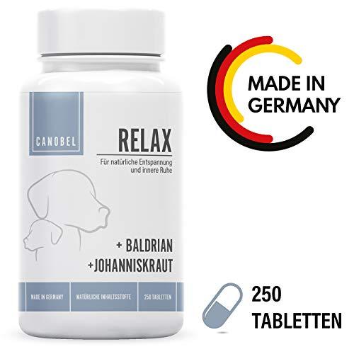 Canobel® Relax - 250 Tabletten - Natürliches Beruhigungsmittel für Hunde - Gegen Angst und Anti Stress - Made in Germany
