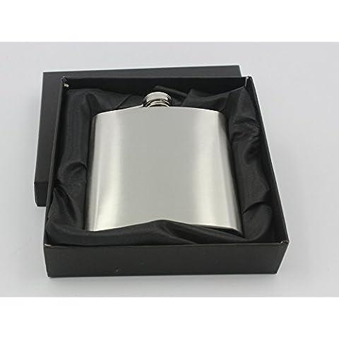 GDS/ 7 onzas. cadera frasco de acero inoxidable cepillado botella de fino acero inoxidable liso.
