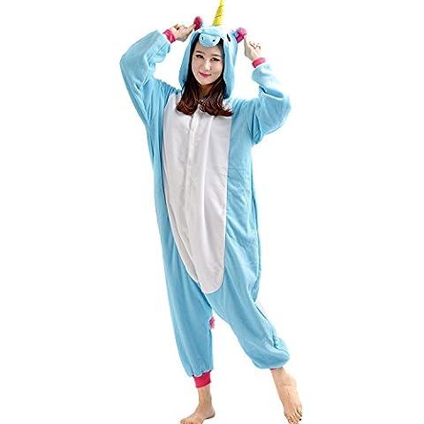 CTHEE Unisex Adulto Dormir Desgaste Animal Kigurumi Dibujos Animados Pijama Carnaval Disfraz Traje