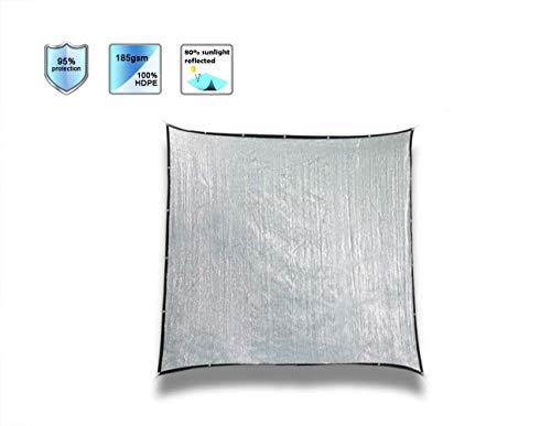 Laxllent Aluminium Voile Pour Serres Filet Dombrage Coupe Vent Et Soleil Avec Oeillets 80 Reflection Du Soleil 10 Ft X 10 Ft 3m X 3m