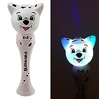 Beamz Delightful Toys Light-Up Flashing Dog Bubble Stick Wand - White