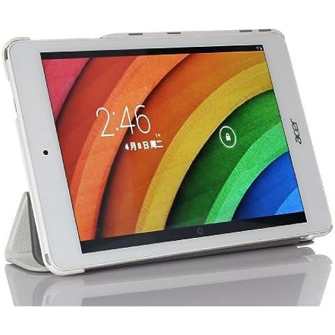 ELTD® Funda de piel de cuerpo entero para Acer Iconia A1 830 Tablet con Auto Sleep/Wake Function (Para Acer Iconia A1 830, Blanco